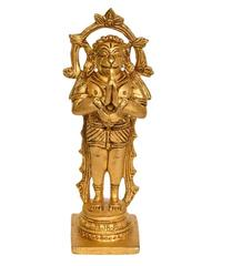 Purpledip Brass Lord Hanuman Statue In Ram-Bhakt Avatar (10659)