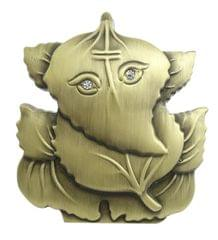 Purpledip Ganesha Statue On Leaf For Car Dashboard (10676)