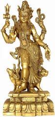 Purpledip Ardhanarishwar Half Shiva Half Parvati Solid Pure Brass Statue (10683)