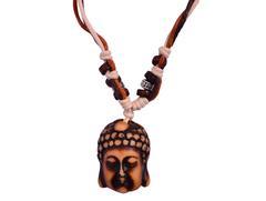 "Purpledip Necklace Chain ""Forever Buddha"": Unique Pendant With Adjustable Cotton Cord (30051)"