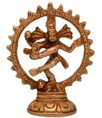Purpledip Nataraja (Lord Shiva Mahadev In Dance Pose) Brass Statue (10697)