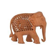 Wooden Jali Carving Elephant Showpiece: Indian Gift/ Souvenir (10715)