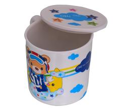 Purpledip Children's Mug With Lid Cover: For Kids In High Quality Plastic Bananas in Pyjamas (10723f)