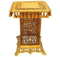 Pure Brass Stool, Pedestal Side Table for living room Indian Ethnic Furniture Brass Table Indian Stool Side Table   (10802)