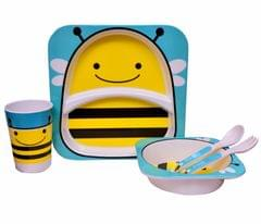 Purpledip Kids 5 pieces Dinner Set (10627b)