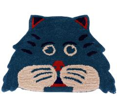 Door Mat Kitty Cat Shape: Thick, Soft, Non-skid Floor Carpet Rug 10747a