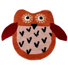 Door Mat Owl Shape: Thick, Soft, Non-skid Floor Carpet Rug 10748a