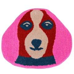 Door Mat Dog Shape: Thick, Soft, Non-skid Floor Carpet Rug 10749