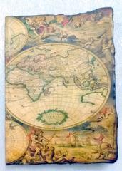 Purpledip Pirate Journal (Vintage Diary) 'Treasure Map': Fire Burnt Handmade Paper Notebook; Unique Gift For Personal Memoir (10764)
