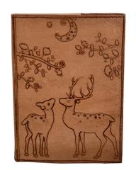 Purpledip Leather Diary / Journal / Notebook 'Eden Garden' With Naturally Treated Paper; Corporate Gift Or Personal Memoir (10762)