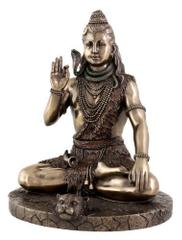 Mahadev Shivji Neekanth Sitting Padmasana  Posture Resin Statue for Home Temple Decor Indian Gift 10832