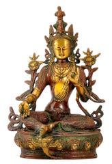 Buddhist Deity Tara Bodhisattva Beautiful Brass Statue 10838