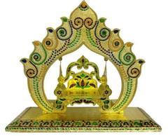 Beautiful Janamashtmi Special Meenakari Laddoo Gopal Krishna Jhula Swing Singhasana (10909)