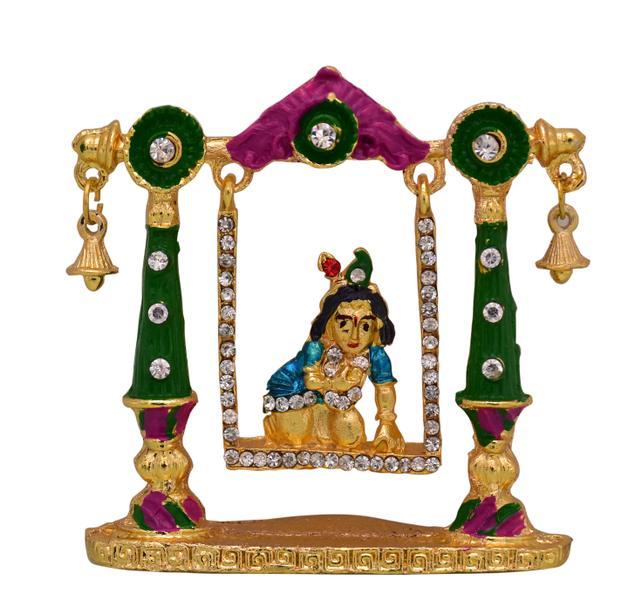 Purpledip Krishna Bal Gopal In Swing Statue (10771)