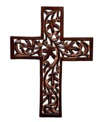 Purpledip Wooden Wall Cross (10773)