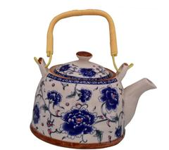 Purpledip Beautifully Painted Ceramic Kettle Tea Pot (10775)