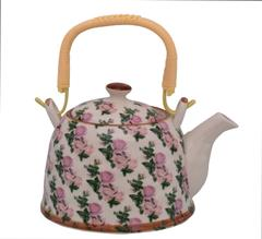 Purpledip Beautifully Painted Ceramic Kettle Tea Pot (10776)