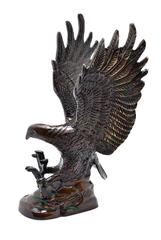 Eagle Hawk Statue Showpiece: Brass Idol For Home Or Office Table (10951)