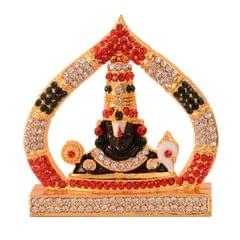 Purpledip Hindu Religious God Tirupati Balaji Miniature Statue Idol For Car Dashboard, Shop Counter/Shelf, Or Office Table (10993)