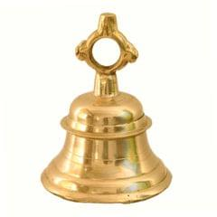 Purpledip Hanging Bell: Solid Brass Metal 1100 Gram Heavy Bell With Deep Sound (11004)