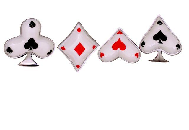 Purpledip Unique Serving Bowls Set: Poker Bridge Playing Cards Design; Table Decor Gift  (11040)