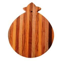 Purpledip Pear Shape Wooden Cutting, Carving, Chopping Serving Board , Hand Carved Chef Board For Slicing Meat Veggies Bread Crackers Fruits Spices; Durable Kitchen Essential Serveware Accessory (11054)