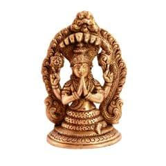 Purpledip Rare Collection God of Yoga Maharishi Patanajli Brass Statue for Home Decor, Home Temple, Unique Indian Gift 11083