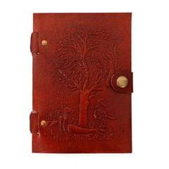 Purpledip Leather Journal (Diary Notebook) 'Time To Go Home': Naturally Treated Paper Encased In Leather Cover For Corporate Gift or Personal Memoir (11103)