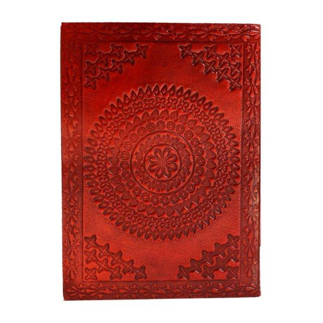 Purpledip Leather Journal (Diary Notebook) 'Divine Chakra': Naturally Treated Paper In Leather Cover For Corporate Gift Or Personal Memoir (11113)