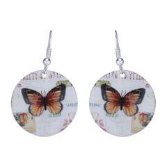 Purpledip Earrings 'Butterfly Palettte': Light Weight Funky Ear Rings Designed By Master Craftsmen (30120)