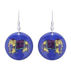 Purpledip Earrings 'Mighty Elephant: Light Weight Funky Ear Rings Designed By Master Craftsmen (30122)