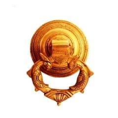 Purpledip Brass Door Knocker Drawer Pull Ring Handle Knob 'Royal Touch' (11134)