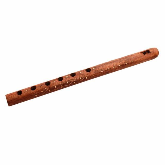 Purpeldip Wooden Fluit/Bansuri Woodwind Flute Musical Mouth Instrument (11145)