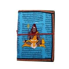 Purpledip Handmade Paper Journal Lord Siva (Shiva Mahadev): Vintage Diary Notebook With Thread Closure (11156)