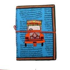 Purpledip Handmade Paper Journal 'Around The World': Vintage Diary Notebook With Thread Closure (11161)