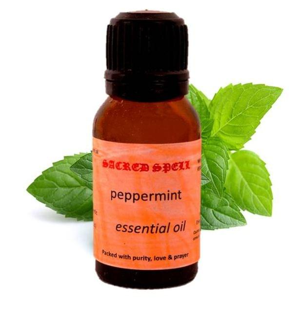 Sacred Spell Peppermint Oil (15 Ml): 100% Natural - Great For Skin & Muscles Or In Aroma Diffusers For Freshness