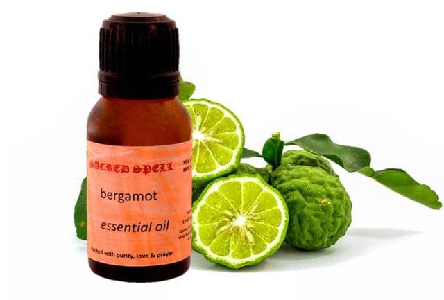 Sacred Spell Bergamot Oil (15 Ml): 100% Pure & Organic - Ideal For Aromatherapy, Skin Purification & Massage Therapy