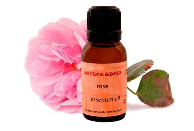 Sacred Spell Rose Oil (15 Ml): 100% Pure & Natural - Ideal For Skin, Body, Hair, Health & Mood