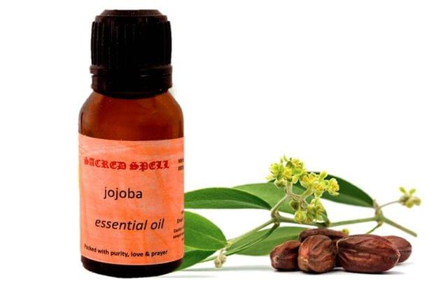 Sacred Spell Jojoba Oil (15 ml): 100% Pure & Organic - Use Before & After Shave Or As Make Up Remover