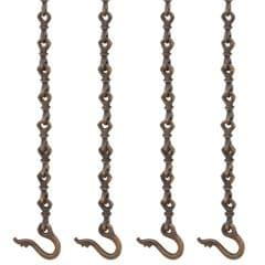Purpledip Brass Chain Set of 4 for Swings, Jhula Jhoola Chains