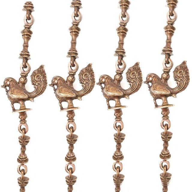 Purpledip Brass Chain Set of 4 for Swings, Jhula Jhoola Chains