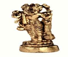 Purpledip Rare Miniature Statue Vishnu-Brahma-Shiva, Holy Trinity Of Hindu Gods: Unique Collectible Gift (11169)