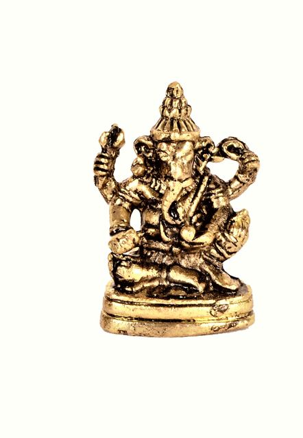 Purpledip Rare Miniature Statue Siddhi Vinayaka Ganesha: Unique Collectible Gift (11173)