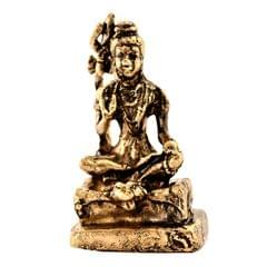 Purpledip Rare Miniature Statue Mahadev Siva, Destroyer Of Evils: Unique Collectible Gift (11174)