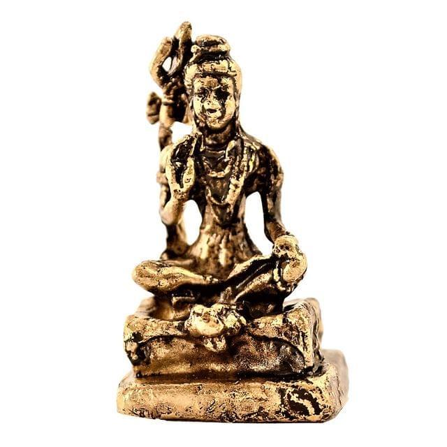 Purpledip Rare Miniature Statue Mahadev Siva, Destroyer Of Evils: Unique Collectible Gift (11174)