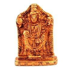 Purpledip Brass Statue Lord Tirupathi Balaji Venkateswara Govinda Srinivasa Full Idol (11186)