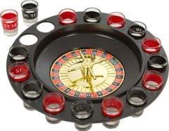 Purpledip Party Drinks Game Set 'Casino Royale' - 16 Shot Glasses (11200)