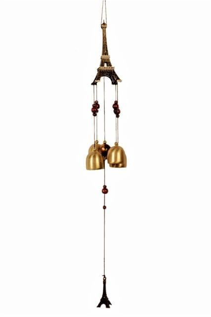 Purpledip Wind Chime 'Paris In My Home': Feng Shui Vaastu Good Luck Charm For Positive Energy (11206)