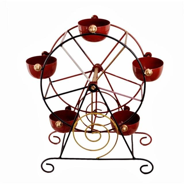 Purpledip Iron Cup-Cake Stand 'Carnival':  Serving Set For Dips, Chutneys, After-mint (11216)