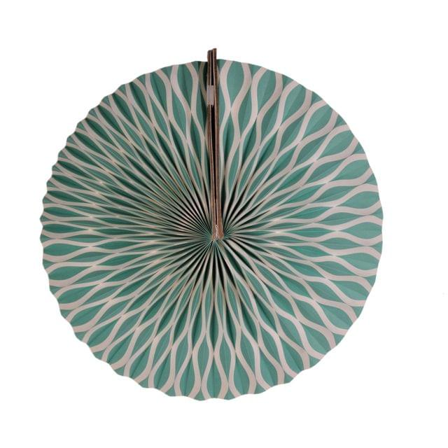 Purpledip Round Japanese Fan Styled: Handmade Hanging Paper Lantern For New Year, Festival, Birthday Party Decoration, 25 cms (chst09)